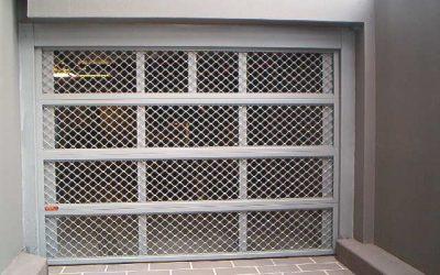 68a Amplimesh - Car park entry door
